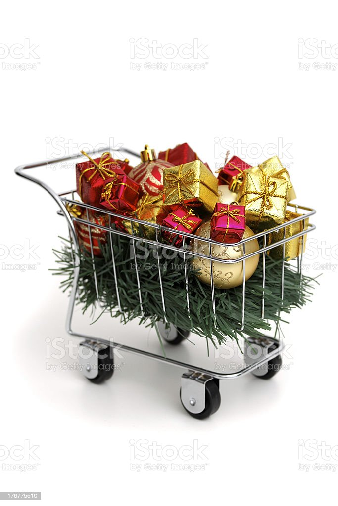 Christmas shopping time royalty-free stock photo