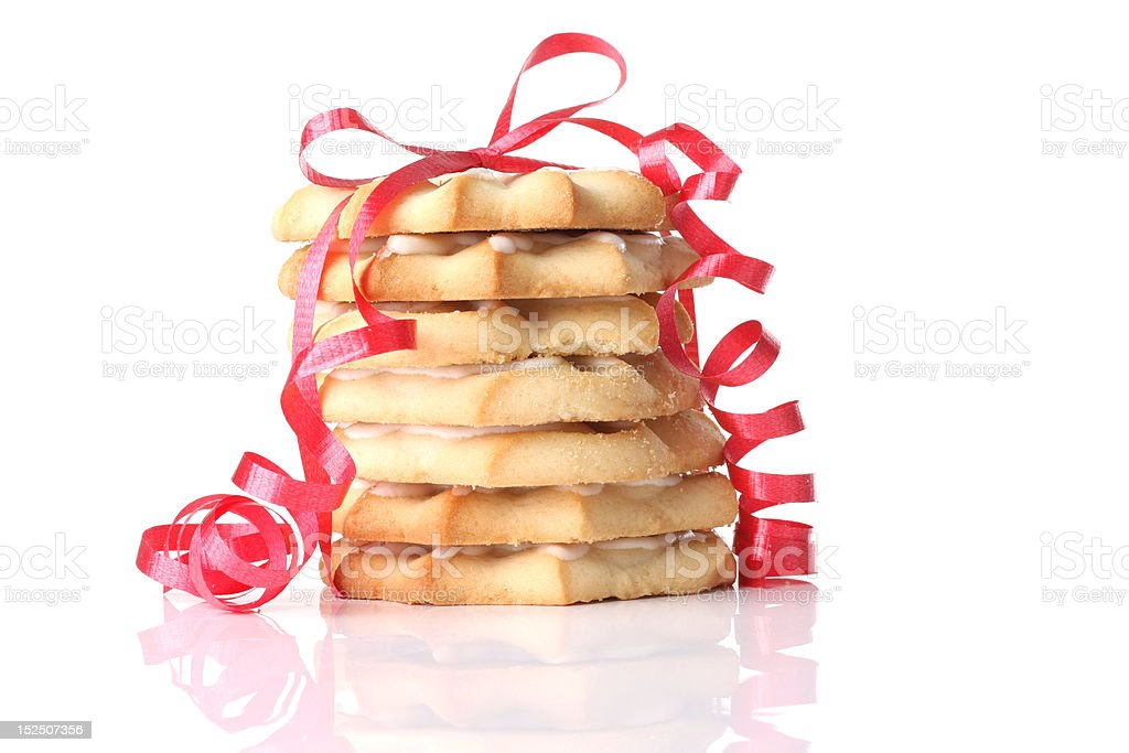 Christmas shortbread cookies royalty-free stock photo