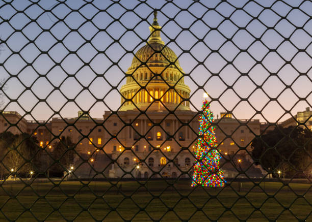 Christmas Shutdown stock photo
