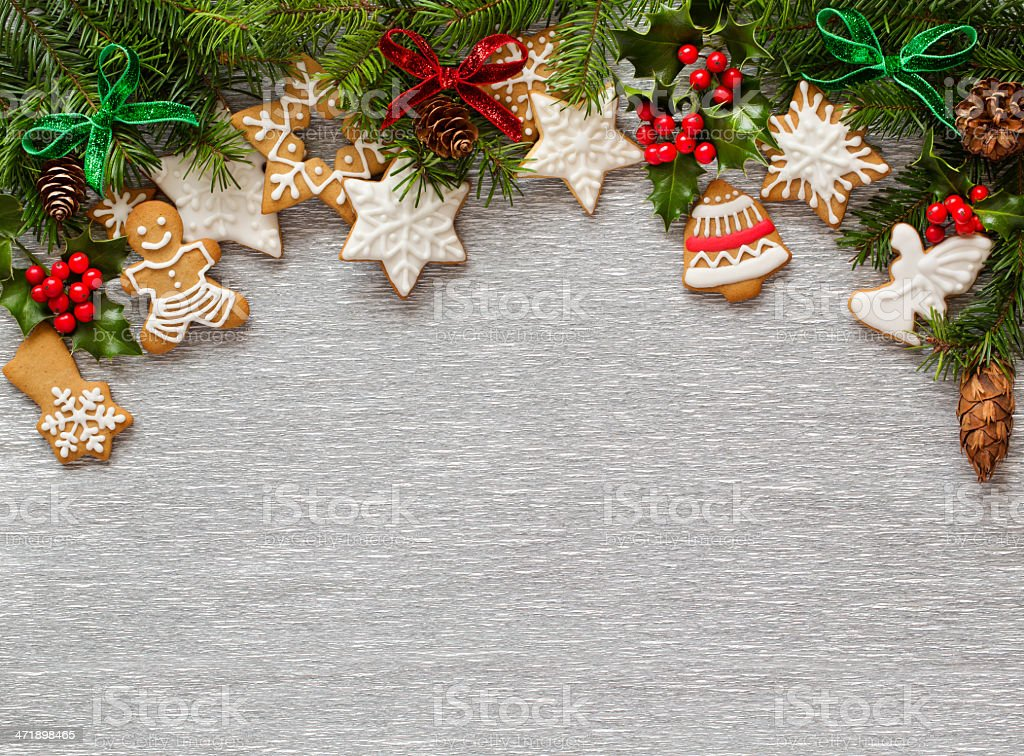 Christmas Silver background royalty-free stock photo