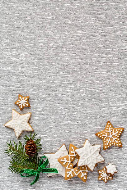Weihnachten Silber Hintergrund, vertikal – Foto