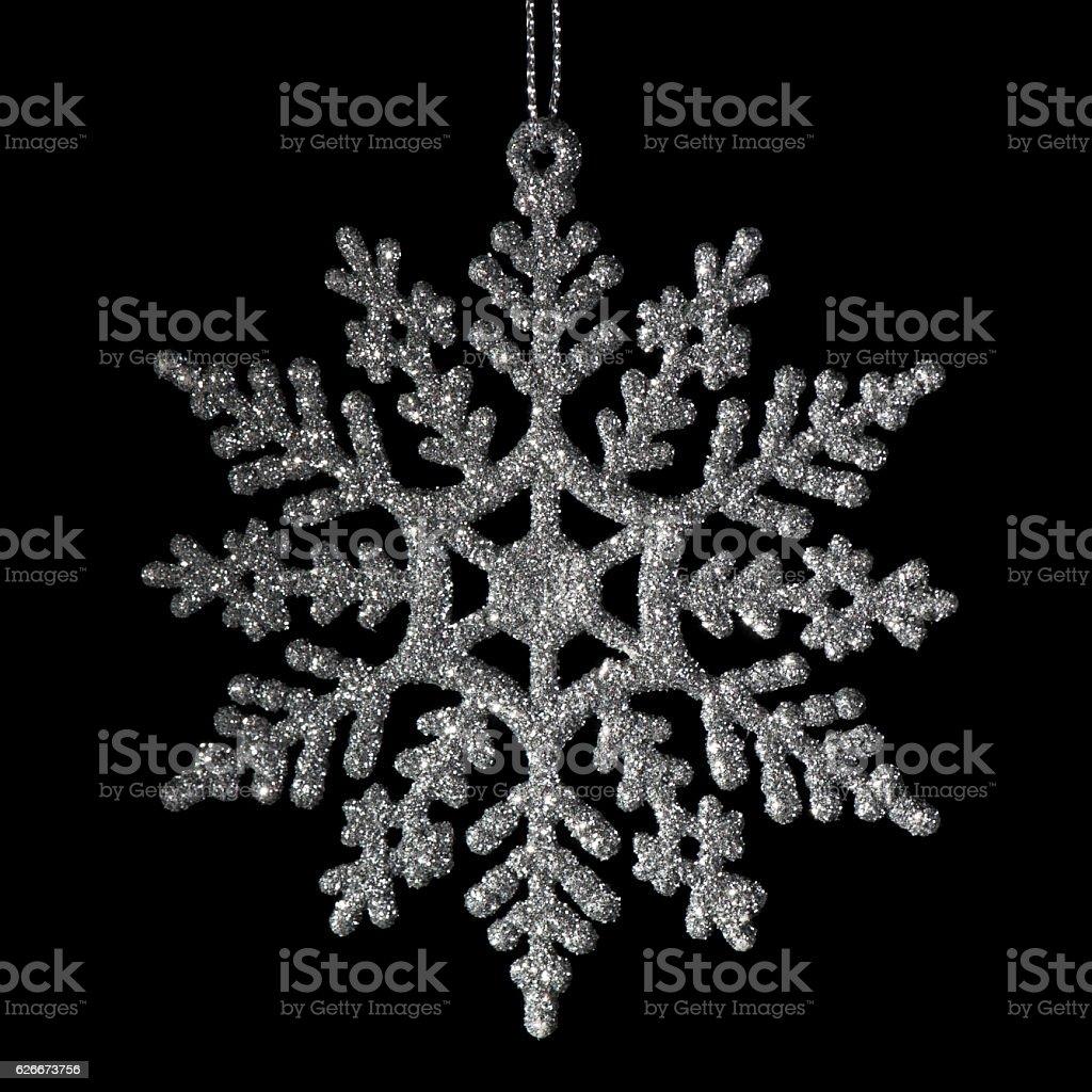 Christmas Silver Snowflake stock photo