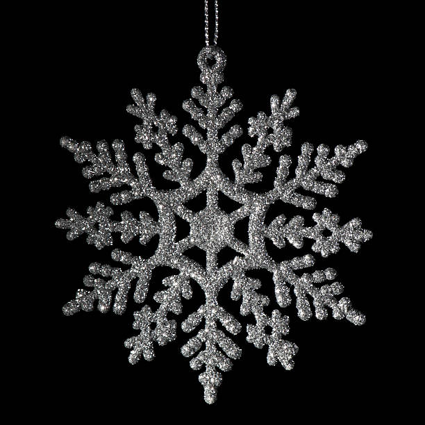 Christmas Silver Snowflake stock photo