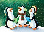 Christmas Singing Penguins