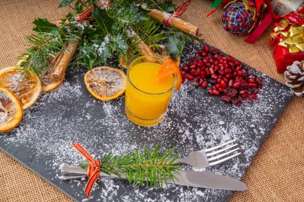 Christmas Slate Platter stock photo