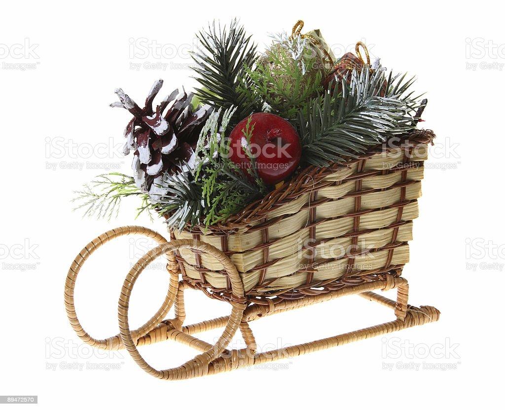Trineo de Navidad foto de stock libre de derechos