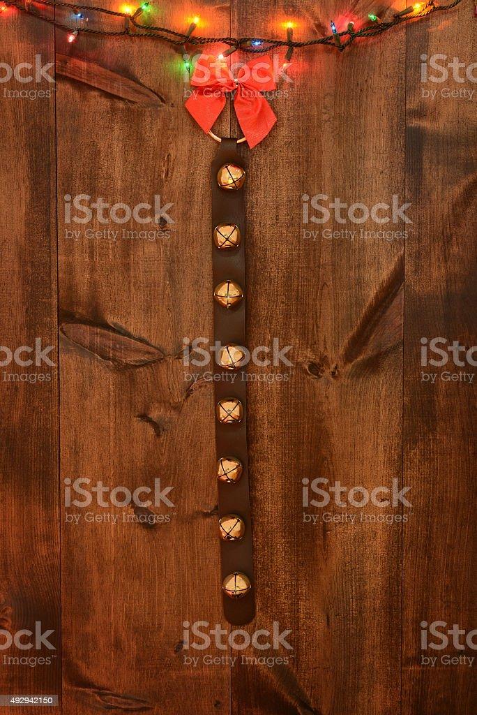 christmas sleigh bells stock photo