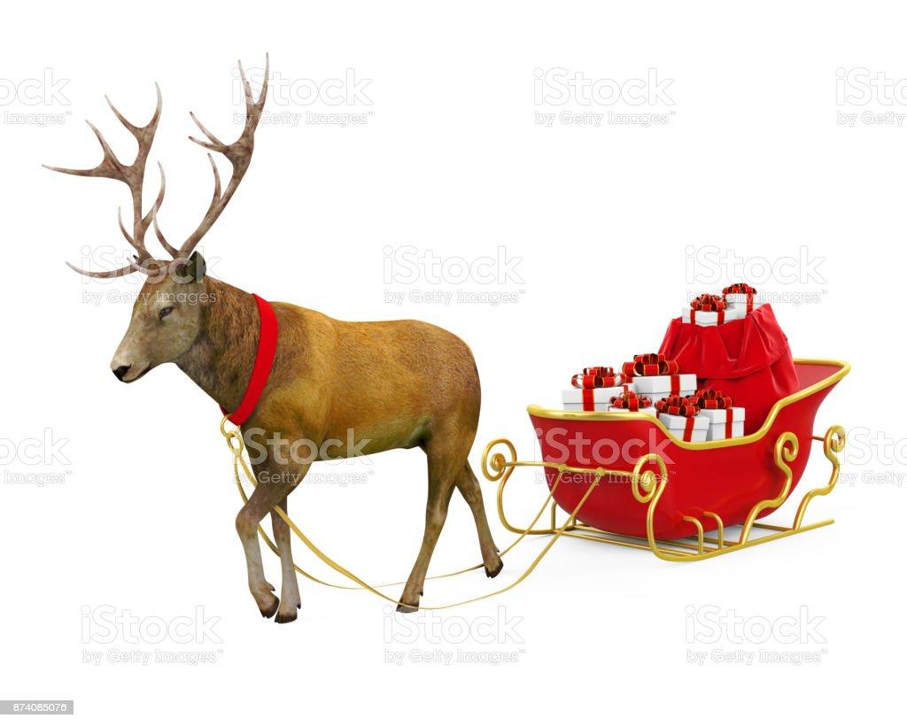 分離されたクリスマスそり ストックフォト
