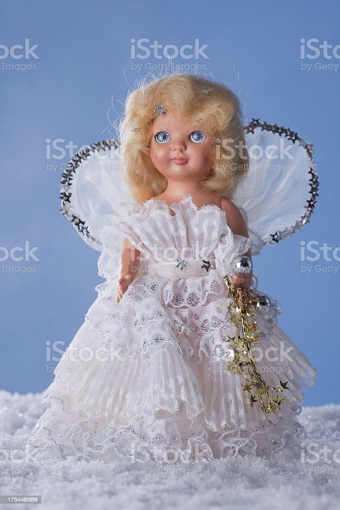 Christmas Snow Angel royalty-free stock photo