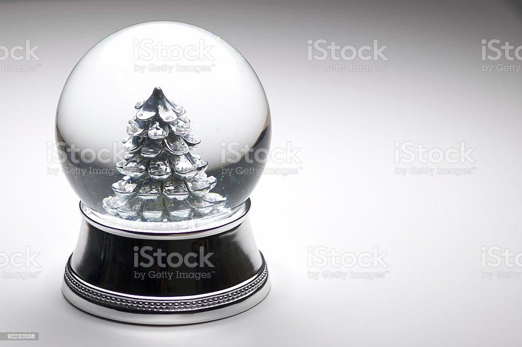 Christmas - Snow Globe 4 royalty-free stock photo
