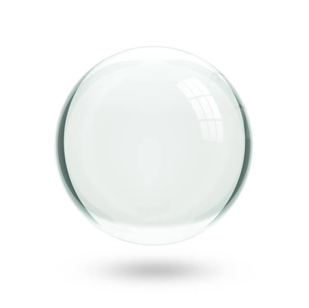 boule à neige noël, isolé - boule de cristal photos et images de collection
