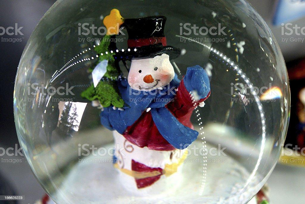 Christmas snow globe royalty-free stock photo