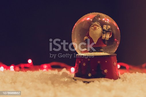istock Christmas Snow Globe With Santa Claus 1078688852