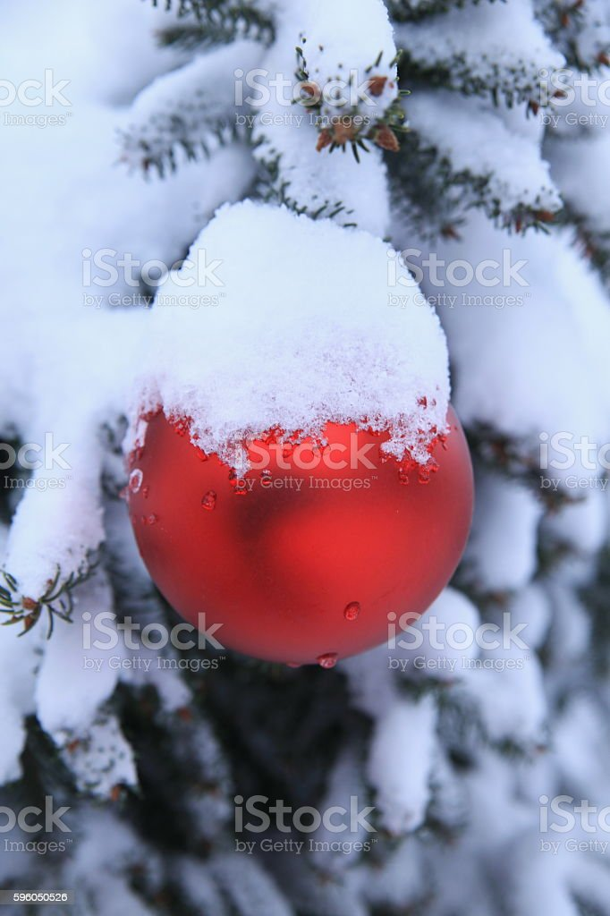 Christmas snow ornament outdoors royalty-free stock photo