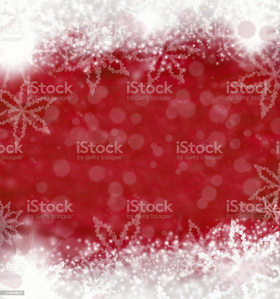 christmas snowflakes frame stock photo