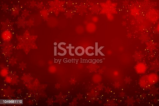 Christmas Snowflakes On Red Background