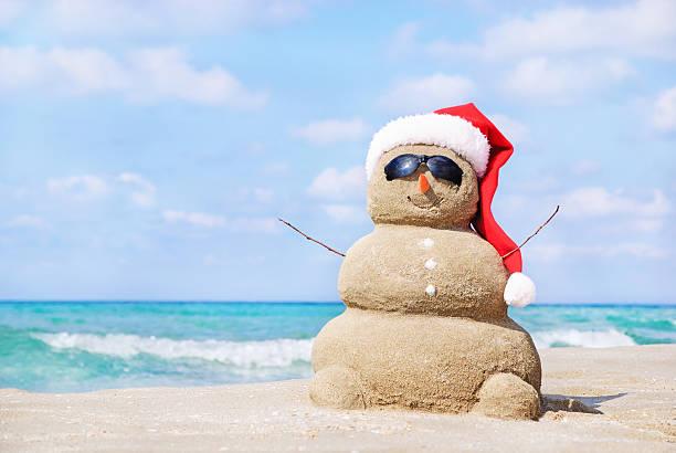 Christmas snowman in santa hat at sandy beach picture id529194907?b=1&k=6&m=529194907&s=612x612&w=0&h=s2h4guotnch08uqrbhnldjxzc v854gq vfq4oszafu=