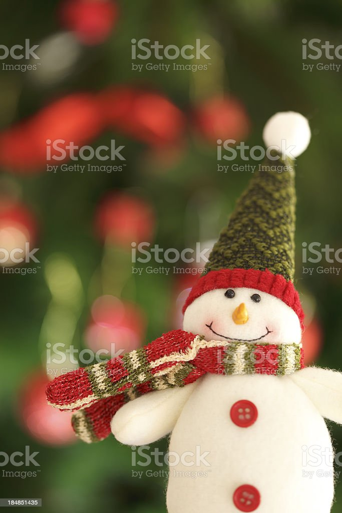 Christmas snowman royalty-free stock photo