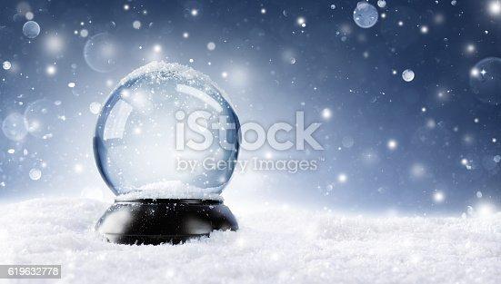 istock Christmas Snowy Ball 619632778