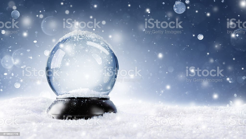 Christmas Snowy Ball stock photo