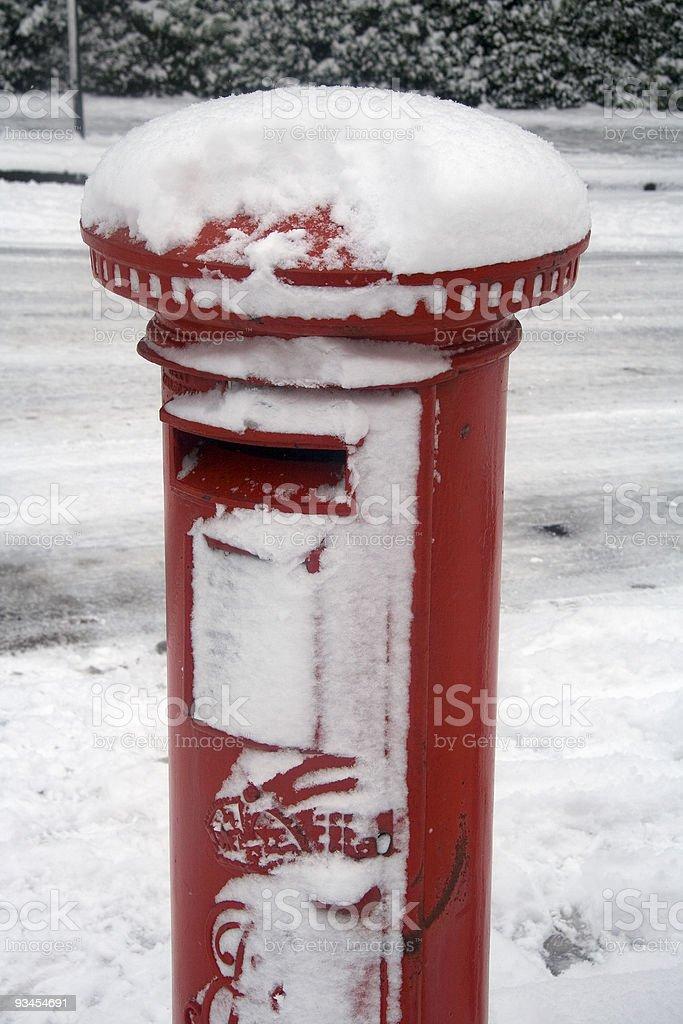 Weihnachten Schnee mail Lizenzfreies stock-foto