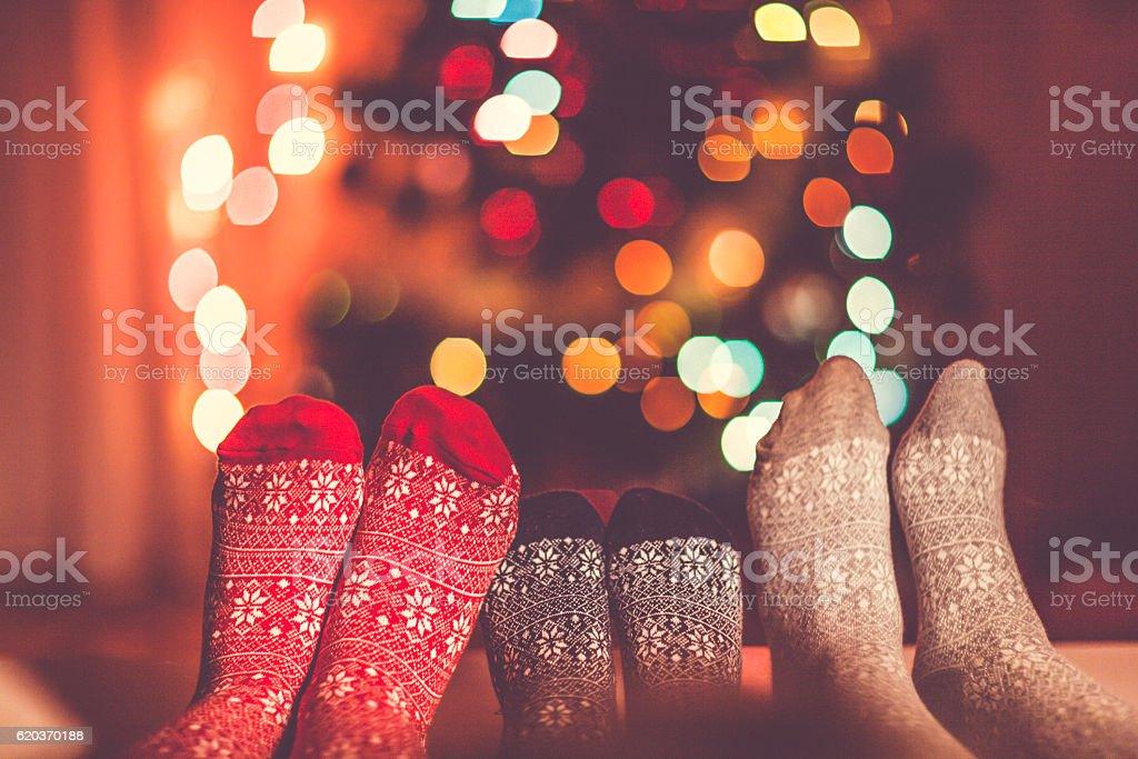 Christmas socks - Royalty-free Adult Stock Photo