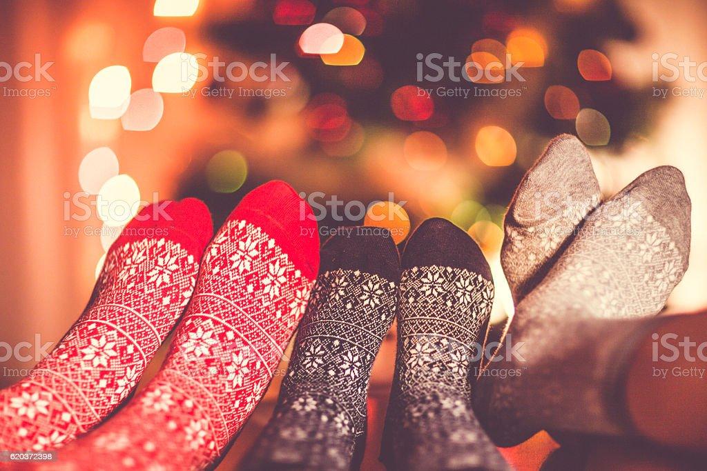 Skarpety świąteczna zbiór zdjęć royalty-free