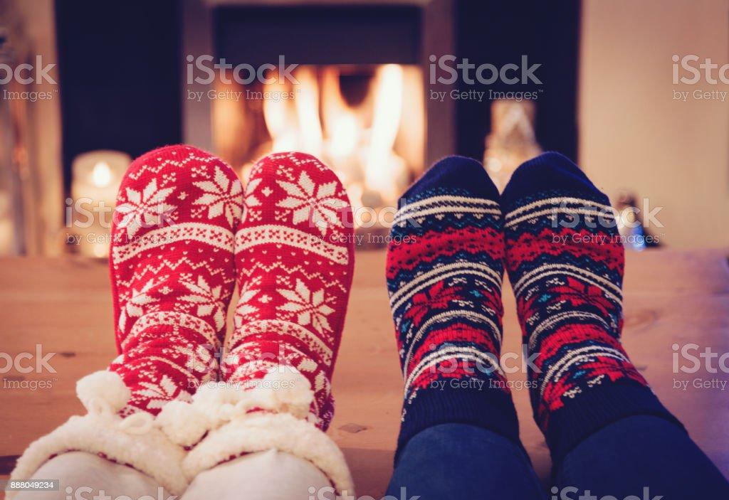 Noel çorap stok fotoğrafı