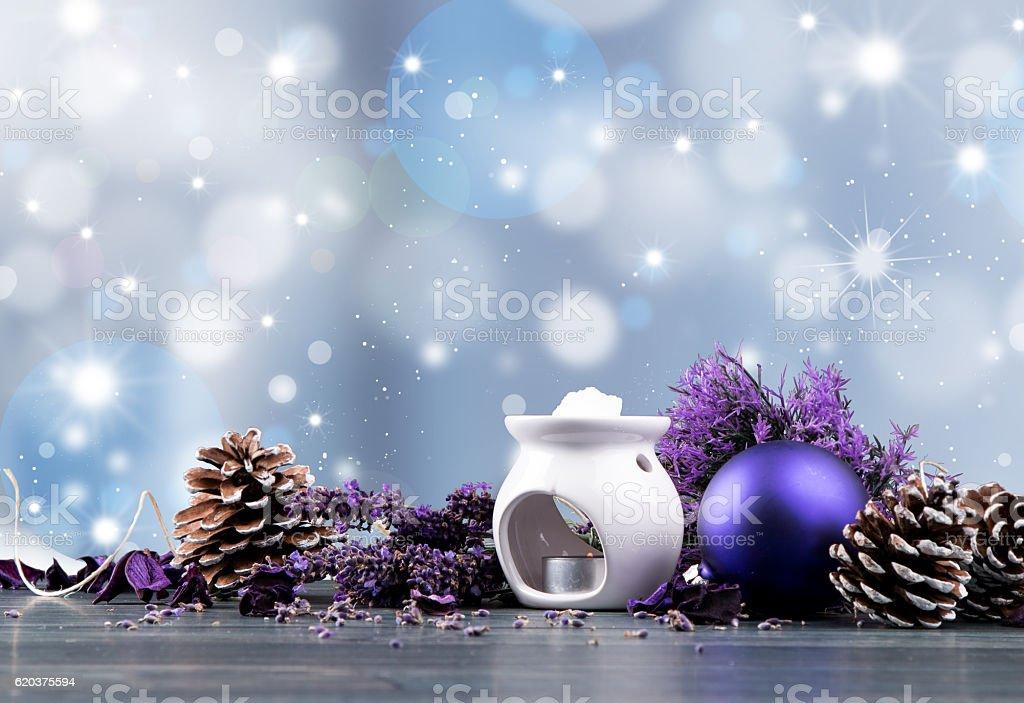 Christmas spa decoration zbiór zdjęć royalty-free