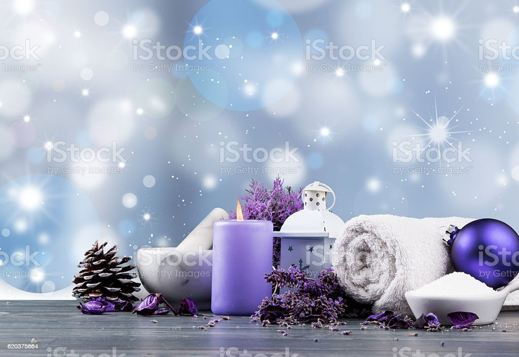 Christmas spa decoration foto de stock royalty-free