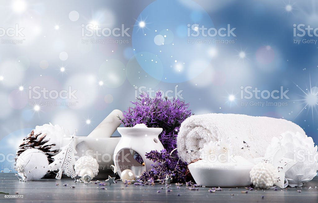 Christmas spa decoration foto de stock royalty-free