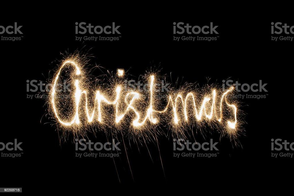 christmas sparkler royalty-free stock photo