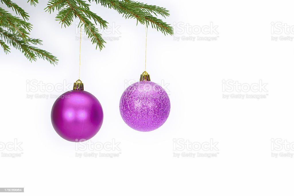 Christmas spheres stock photo