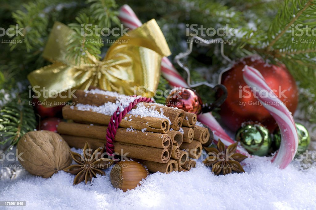 Christmas spices royalty-free stock photo
