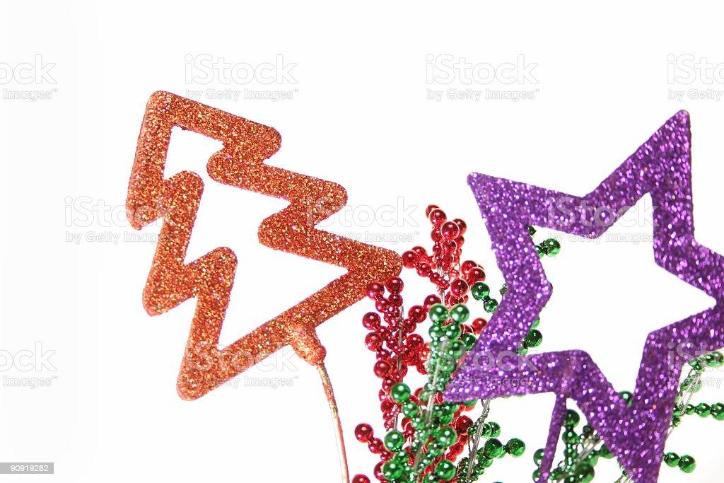Christmas Star and Tree royalty-free stock photo