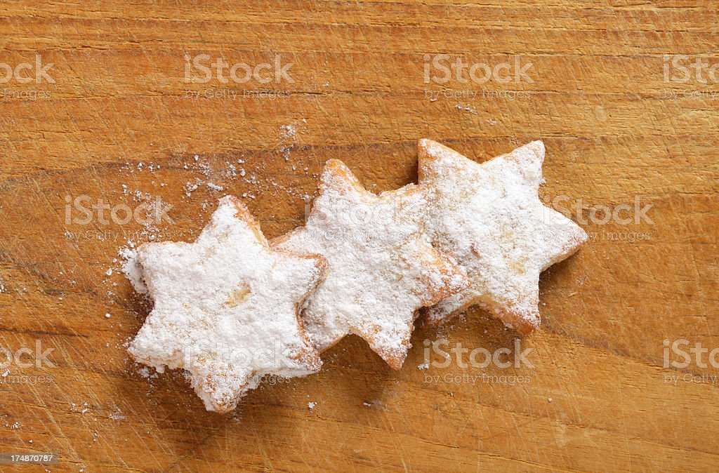 christmas star biscuits royalty-free stock photo