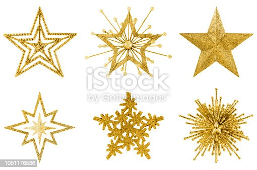 Star Collection Isolated on White