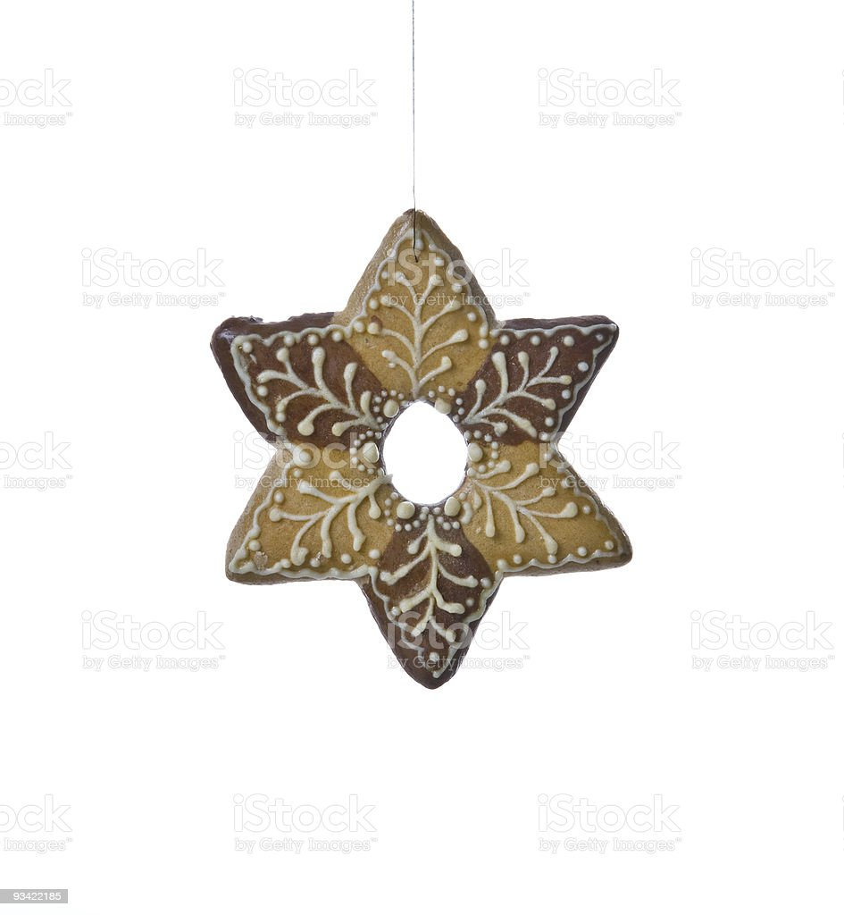 christmas star cookie royalty-free stock photo