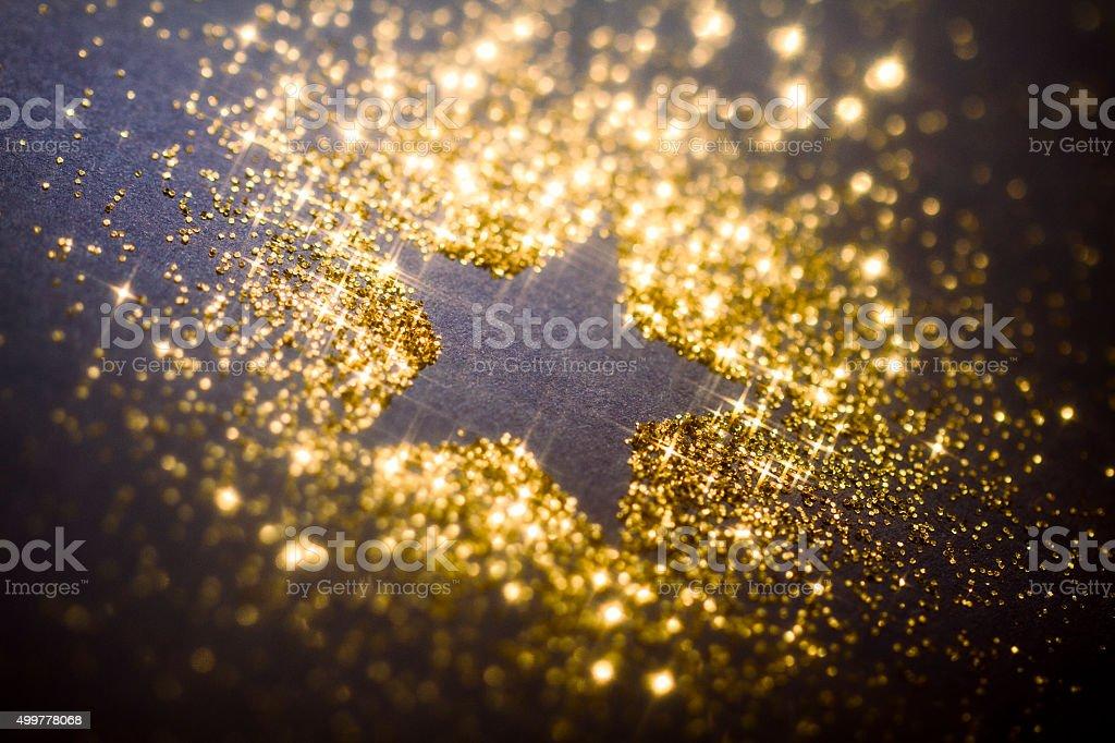 Christmas Star Golden Glitter Background stock photo