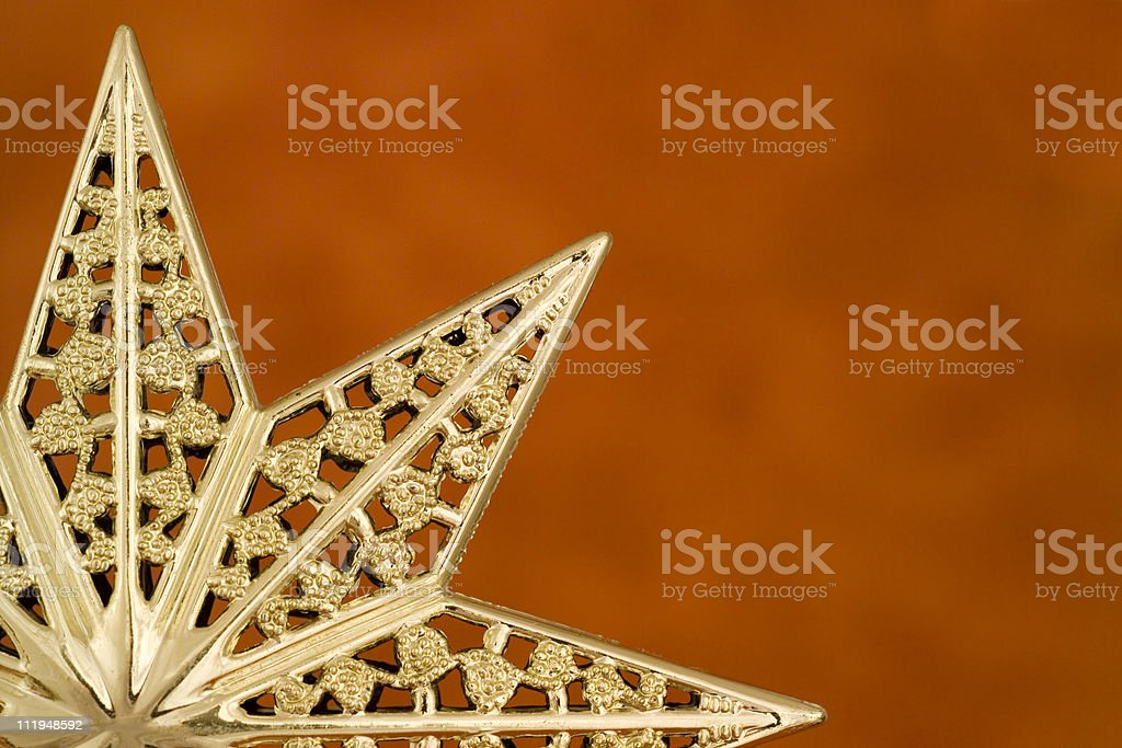 Christmas star on red background royalty-free stock photo