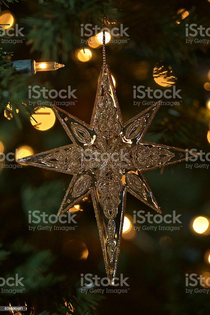 Christmas Star Ornament stock photo