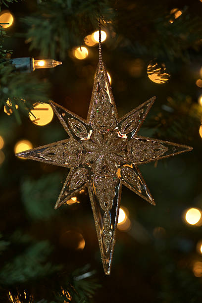 Christmas Star Ornament stock photo