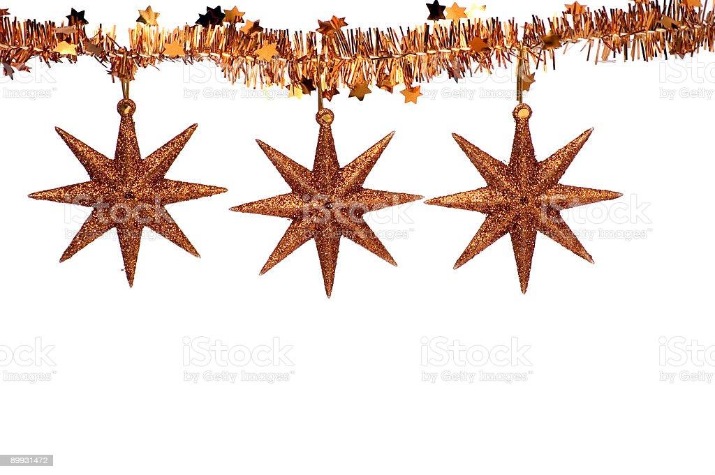 Christmas Star Ornaments royalty-free stock photo