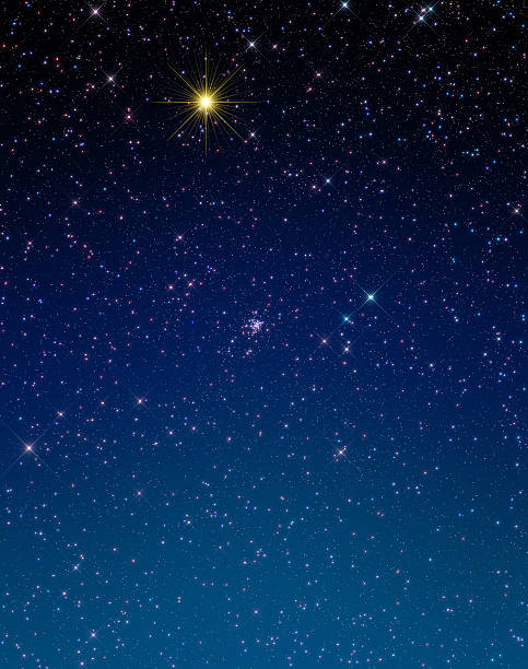 Christmas Star Christmas star in dawn.  north star stock pictures, royalty-free photos & images