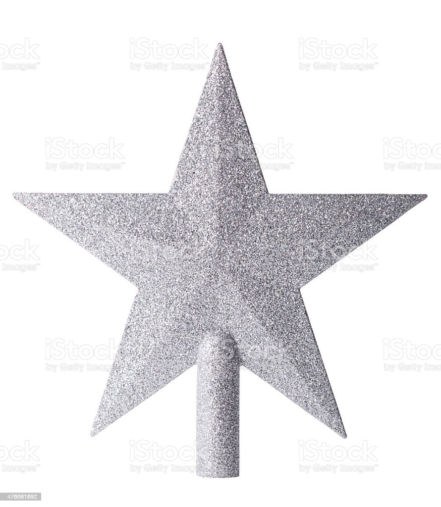 Christmas star with clipping path stock photo