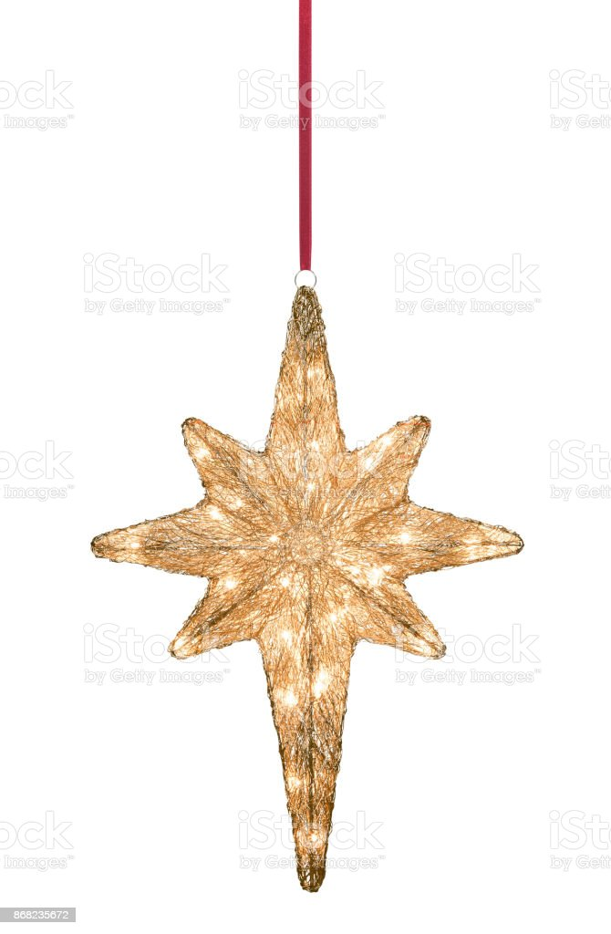 Christmas star with light stock photo