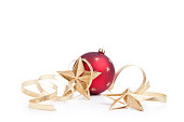 istock Christmas Stars, Baubles and Gold Ribbons (XXL) 172964127