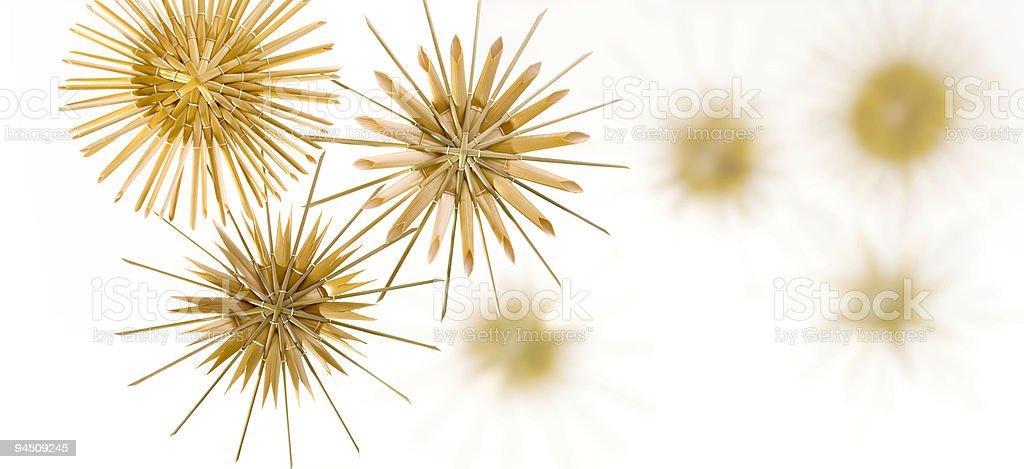 Christmas stars decoration stock photo