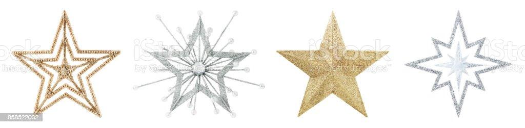 Christmas Stars Isolated on White stock photo