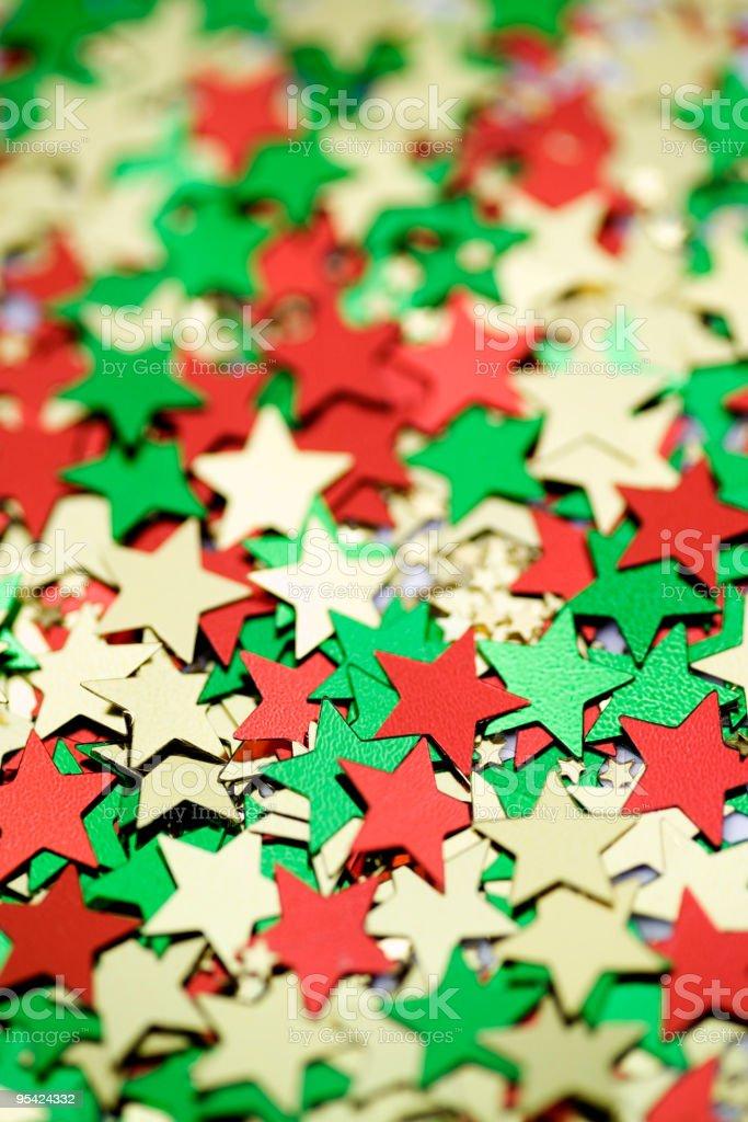 Weihnachten-stars Lizenzfreies stock-foto